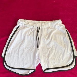 Pants - White Shorts With Black Detail Size XL